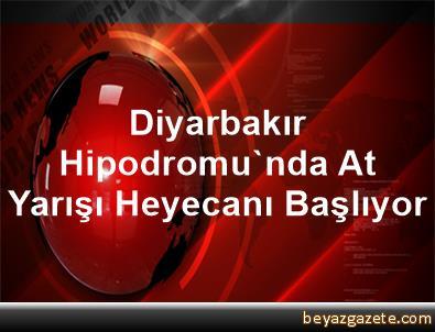 Diyarbakır Hipodromu'nda At Yarışı Heyecanı Başlıyor