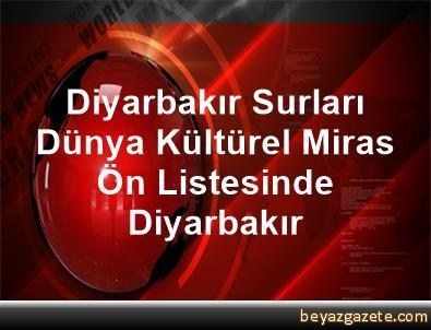 Diyarbakır Surları Dünya Kültürel Miras Ön Listesinde Diyarbakır