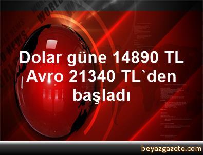 Dolar güne 1,4890 TL, Avro 2,1340 TL'den başladı