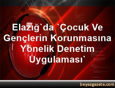 Elazığ'da 'Çocuk Ve Gençlerin Korunmasına Yönelik Denetim Uygulaması'