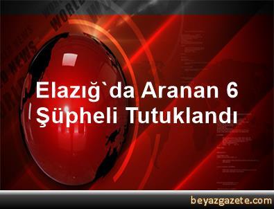 Elazığ'da Aranan 6 Şüpheli Tutuklandı