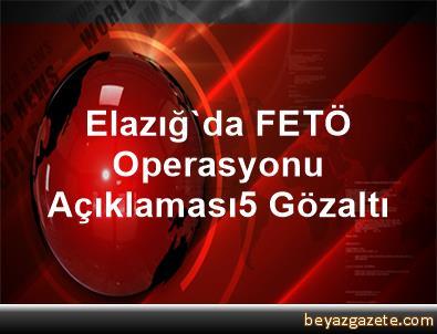 Elazığ'da FETÖ Operasyonu Açıklaması5 Gözaltı