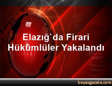 Elazığ'da Firari Hükümlüler Yakalandı