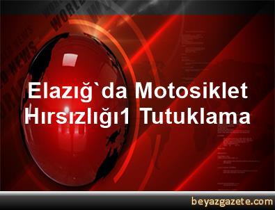 Elazığ'da Motosiklet Hırsızlığı,1 Tutuklama