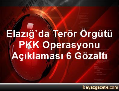 Elazığ'da Terör Örgütü PKK Operasyonu Açıklaması 6 Gözaltı