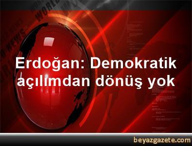 Erdoğan: Demokratik açılımdan dönüş yok