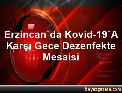 Erzincan'da Kovid-19'A Karşı Gece Dezenfekte Mesaisi