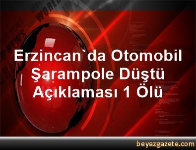 Erzincan'da Otomobil Şarampole Düştü Açıklaması 1 Ölü