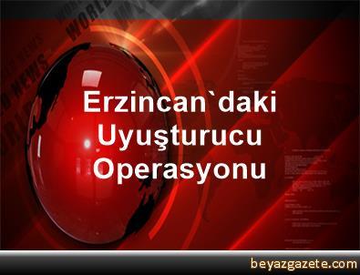 Erzincan'daki Uyuşturucu Operasyonu