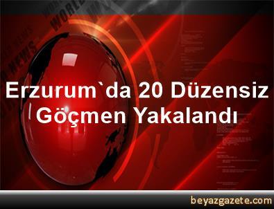 Erzurum'da 20 Düzensiz Göçmen Yakalandı
