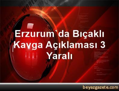 Erzurum'da Bıçaklı Kavga Açıklaması 3 Yaralı
