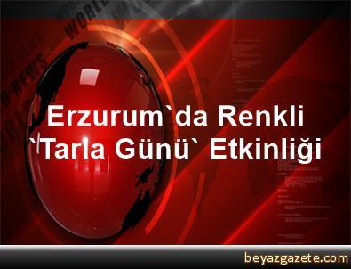 Erzurum'da Renkli 'Tarla Günü' Etkinliği