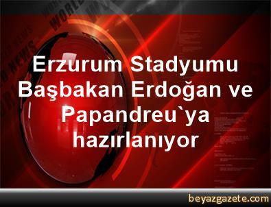 Erzurum Stadyumu, Başbakan Erdoğan ve Papandreu'ya hazırlanıyor