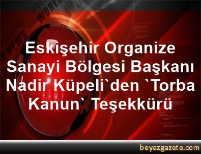 Eskişehir Organize Sanayi Bölgesi Başkanı Nadir Küpeli'den 'Torba Kanun' Teşekkürü