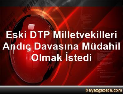 Eski DTP Milletvekilleri, Andıç Davasına Müdahil Olmak İstedi