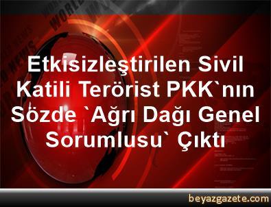 Etkisizleştirilen Sivil Katili Terörist PKK'nın Sözde 'Ağrı Dağı Genel Sorumlusu' Çıktı