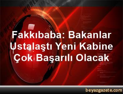Fakkıbaba: Bakanlar Ustalaştı, Yeni Kabine Çok Başarılı Olacak