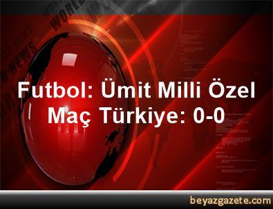 Futbol: Ümit Milli Özel Maç Türkiye: 0-0