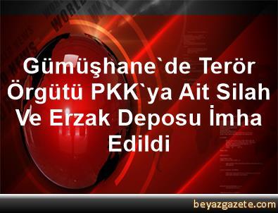 Gümüşhane'de Terör Örgütü PKK'ya Ait Silah Ve Erzak Deposu İmha Edildi
