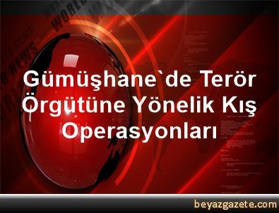 Gümüşhane'de Terör Örgütüne Yönelik Kış Operasyonları