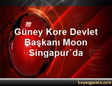 Güney Kore Devlet Başkanı Moon Singapur'da