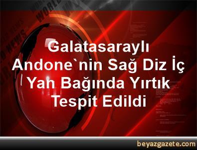 Galatasaraylı Andone'nin Sağ Diz İç Yan Bağında Yırtık Tespit Edildi