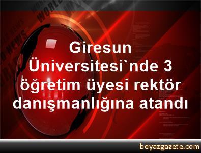 Giresun Üniversitesi'nde 3 öğretim üyesi rektör danışmanlığına atandı