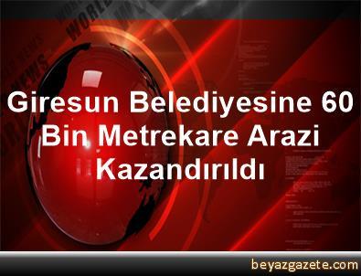 Giresun Belediyesine 60 Bin Metrekare Arazi Kazandırıldı