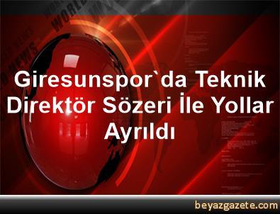 Giresunspor'da Teknik Direktör Sözeri İle Yollar Ayrıldı