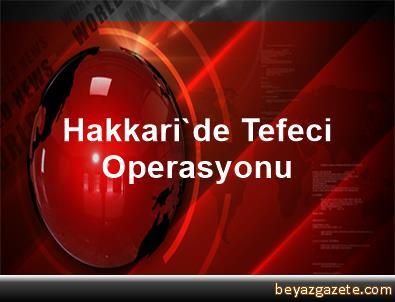 Hakkari'de Tefeci Operasyonu