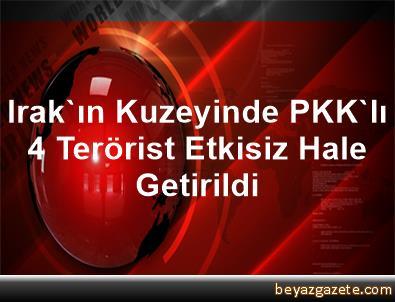 Irak'ın Kuzeyinde, PKK'lı 4 Terörist Etkisiz Hale Getirildi