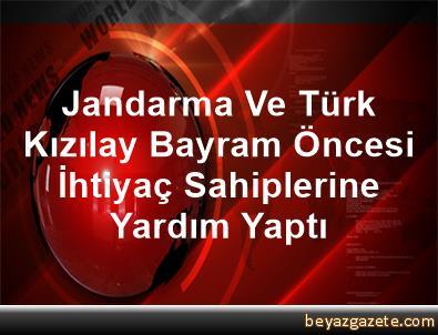 Jandarma Ve Türk Kızılay Bayram Öncesi İhtiyaç Sahiplerine Yardım Yaptı