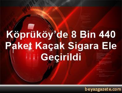 Köprüköy'de 8 Bin 440 Paket Kaçak Sigara Ele Geçirildi