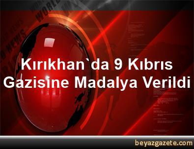 Kırıkhan'da 9 Kıbrıs Gazisine Madalya Verildi