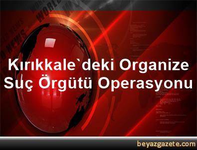Kırıkkale'deki Organize Suç Örgütü Operasyonu