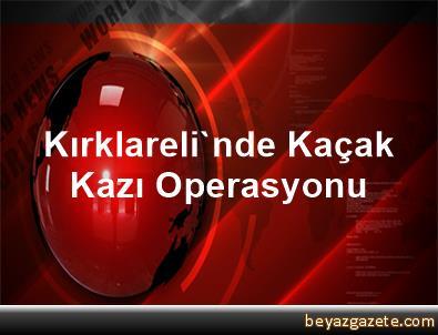Kırklareli'nde Kaçak Kazı Operasyonu