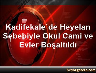 Kadifekale'de Heyelan Sebebiyle Okul, Cami ve Evler Boşaltıldı