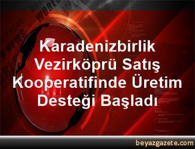 Karadenizbirlik Vezirköprü Satış Kooperatifinde Üretim Desteği Başladı