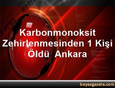 Karbonmonoksit Zehirlenmesinden 1 Kişi Öldü  Ankara