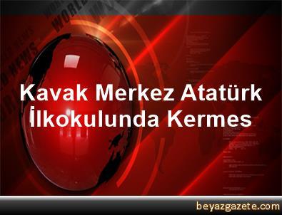 Kavak Merkez Atatürk İlkokulunda Kermes