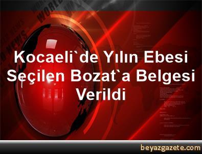Kocaeli'de Yılın Ebesi Seçilen Bozat'a Belgesi Verildi