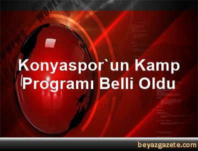 Konyaspor'un Kamp Programı Belli Oldu