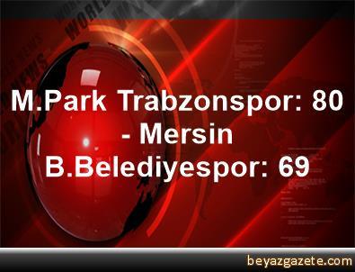 M.Park Trabzonspor: 80 - Mersin B.Belediyespor: 69