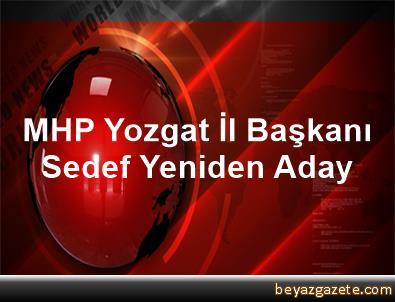 MHP Yozgat İl Başkanı Sedef, Yeniden Aday