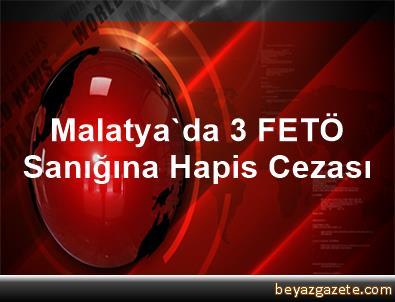 Malatya'da 3 FETÖ Sanığına Hapis Cezası