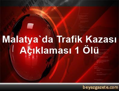 Malatya'da Trafik Kazası Açıklaması 1 Ölü