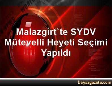 Malazgirt'te SYDV Mütevelli Heyeti Seçimi Yapıldı