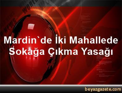 Mardin'de İki Mahallede Sokağa Çıkma Yasağı
