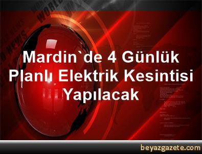 Mardin'de 4 Günlük Planlı Elektrik Kesintisi Yapılacak
