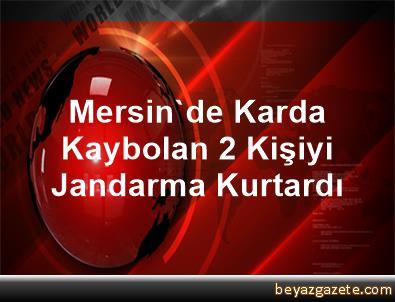 Mersin'de Karda Kaybolan 2 Kişiyi Jandarma Kurtardı